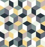 Modelo inconsútil de cubos coloreados Fondo cúbico multicolor sin fin Fotografía de archivo libre de regalías