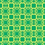 Modelo inconsútil de esferas verdes Fondo geométrico del vector Fotos de archivo libres de regalías