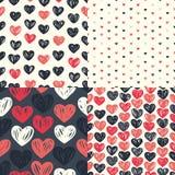 Modelo inconsútil de Etro con los corazones coloridos Foto de archivo libre de regalías
