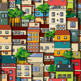 Modelo inconsútil de Favela stock de ilustración