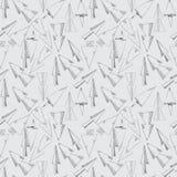 Modelo inconsútil de flechas dibujadas mano Imagen de archivo