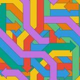 Modelo inconsútil de flechas entrelazadas coloridas Foto de archivo libre de regalías
