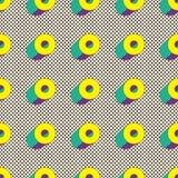 Modelo inconsútil de formas geométricas Cartel de Minimalistic Papel pintado de Digitaces Fotos de archivo libres de regalías