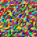 Modelo inconsútil de formas geométricas coloreadas Fotos de archivo