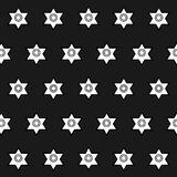 Modelo inconsútil de formas geométricas en un backgroun oscuro Fotos de archivo