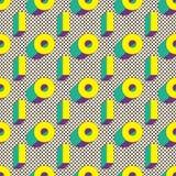 Modelo inconsútil de formas geométricas en vector Papel pintado de Digitaces Imagenes de archivo