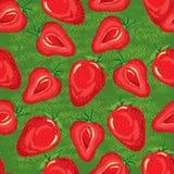 Modelo inconsútil de fresas maduras Imágenes de archivo libres de regalías