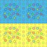 Modelo inconsútil de globos coloridos Imágenes de archivo libres de regalías