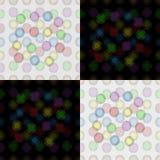 Modelo inconsútil de globos coloridos Imagen de archivo