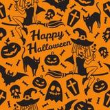 Modelo inconsútil de Halloween Fotos de archivo libres de regalías