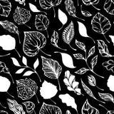 Modelo inconsútil de hojas ilustración del vector