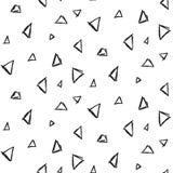 Modelo inconsútil de imitación de la tinta abstracta del triángulo Imagenes de archivo