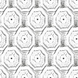 Modelo inconsútil de imitación de la tinta geométrica abstracta del modelo Foto de archivo