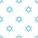 Modelo inconsútil de Jánuca del día de fiesta judío Fotografía de archivo libre de regalías