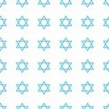 Modelo inconsútil de Jánuca del día de fiesta judío Foto de archivo libre de regalías