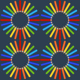 Modelo inconsútil de lápices coloreados Imagen de archivo libre de regalías