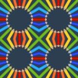 Modelo inconsútil de lápices coloreados Fotos de archivo libres de regalías