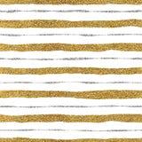 Modelo inconsútil de líneas de oro y plateadas Foto de archivo