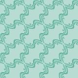 Modelo incons?til de l?neas decorativas verdes en un fondo de la menta ilustración del vector