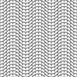 Modelo inconsútil de líneas onduladas abstraiga el fondo libre illustration