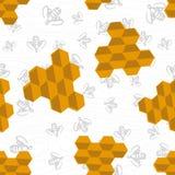 Modelo inconsútil de la abeja libre illustration