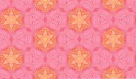Modelo inconsútil de la acuarela abstracta Hexágonos rosados stock de ilustración
