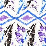 Modelo inconsútil de la acuarela brillante abstracta Fotografía de archivo libre de regalías
