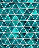 Modelo inconsútil de la acuarela con los triángulos esmeralda Imágenes de archivo libres de regalías