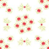 Modelo inconsútil de la acuarela hermosa de las flores brillantes de las rosas rojas con el backgr verde oliva ocre ligero de la  Fotos de archivo