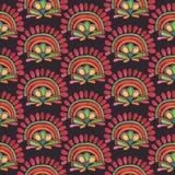 Modelo inconsútil de la acuarela Materia textil india Fotografía de archivo libre de regalías