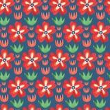 Modelo inconsútil de la acuarela Materia textil india Imagen de archivo libre de regalías