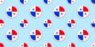 Modelo inconsútil de la bandera de la ronda de Panamá Fondo panameño Iconos del círculo del vector Símbolos geométricos Textura p libre illustration