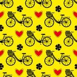Modelo inconsútil de la bicicleta ilustración del vector