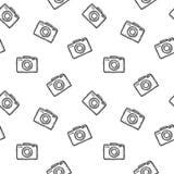 Modelo inconsútil de la cámara de la foto Cámaras del ejemplo del vector Imagenes de archivo