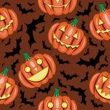 Modelo inconsútil de la calabaza de Halloween Imagenes de archivo