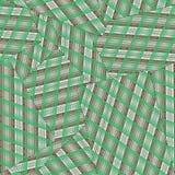 Modelo inconsútil de la cara de naipes abajo De rayas verdes y marrones ilustración del vector