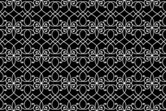 Modelo inconsútil de la cerca del hierro del alambre ilustración del vector