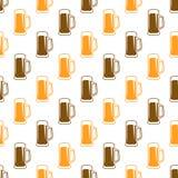 Modelo inconsútil de la cerveza Fotos de archivo libres de regalías