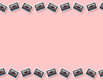 Modelo inconsútil de la cinta retra de la mezcla Formato de la letra libre illustration