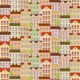 Modelo inconsútil de la ciudad con los edificios Foto de archivo
