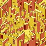 Modelo inconsútil de la ciudad vieja ilustración del vector