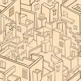 Modelo inconsútil de la ciudad vieja libre illustration