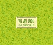 Modelo inconsútil de la comida del vegano Imagenes de archivo