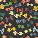 Modelo inconsútil de la corbata de lazo fondo de Paisley Vector Imagen de archivo libre de regalías