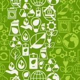 Modelo inconsútil de la ecología con los iconos del ambiente Imagen de archivo
