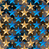 Modelo inconsútil de la estrella del desgaste de la simetría de oro azul de la cinta libre illustration
