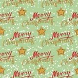 Modelo inconsútil de la Feliz Navidad con las estrellas foto de archivo libre de regalías