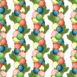 Modelo inconsútil de la Feliz Navidad y de la Feliz Año Nuevo con Papá Noel y regalos en el fondo blanco Ilustración del vector ilustración del vector
