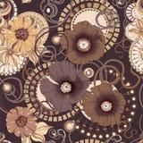 Modelo inconsútil de la flor de la amapola EPS 10 Fotografía de archivo