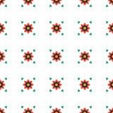 Modelo inconsútil de la flor geométrica abstracta Imágenes de archivo libres de regalías